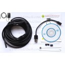 Android USB Endoscope Waterproof Inspection Borescope Tube Camera 5m Length